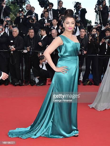 Actress Aishwarya Rai attends the Premiere of 'Cleopatra' at The 66th Annual Cannes Film Festival on May 21 2013 in Cannes France