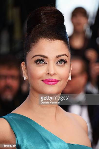 Actress Aishwarya Rai attends the Premiere of 'Cleopatra' during the 66th Annual Cannes Film Festival at the Palais des Festivals on May 21 2013 in...
