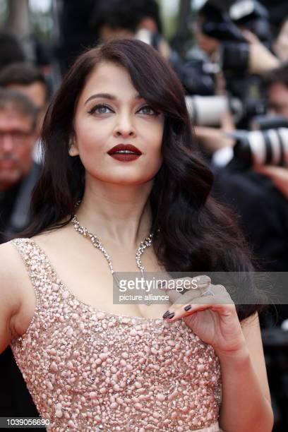 Actress Aishwarya Rai attends the premiere of 'The BFG' during the 69th Annual Cannes Film Festival at Palais des Festivals in Cannes France on 14...