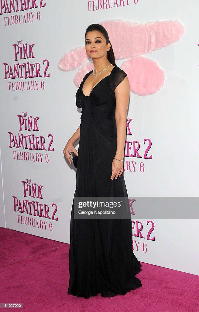 Actress Aishwarya Rai attends the premiere of `The Pink Panther 2` at the Ziegfeld Theater on February 3 2009 in New York City