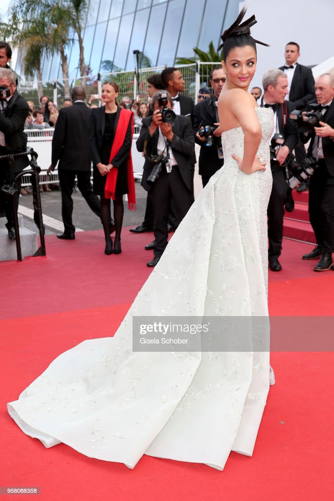 Actress Aishwarya Rai attends the screening of `Sink Or Swim ` during the 71st annual Cannes Film Festival at Palais des Festivals on May 13 2018 in..