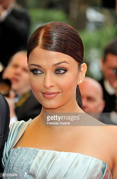 Actress Aishwarya Rai attends the Spring Fever Premiere held at the Palais Des Festival during the 62nd International Cannes Film Festival on May 14...