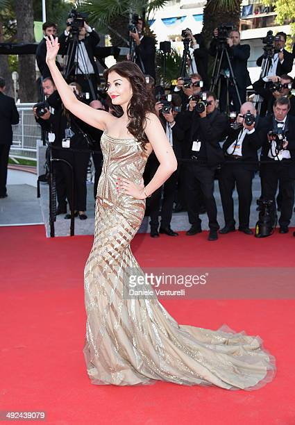 Actress Aishwarya Rai attends the Two Days One Night premiere during the 67th Annual Cannes Film Festival on May 20 2014 in Cannes France