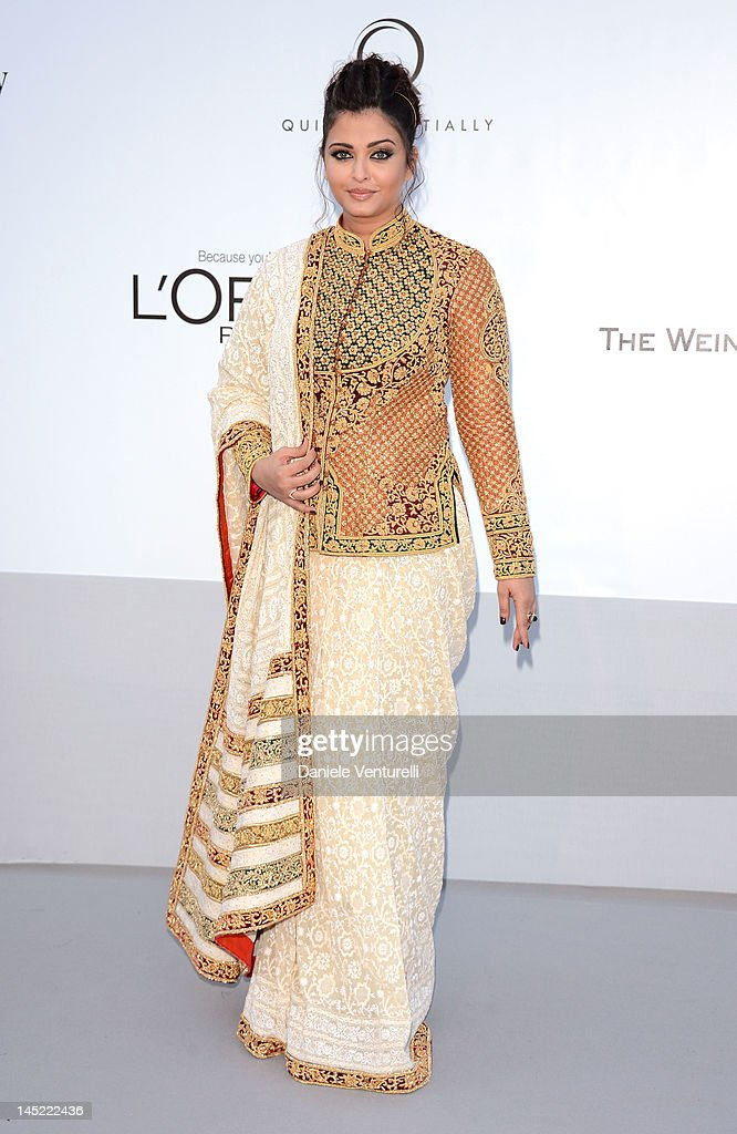 Actress Aishwarya Rai Bachchan arrives at 2012 amfAR`s Cinema Against AIDS during the 65th Annual Cannes Film Festival at Hotel Du Cap on May 24 2012.
