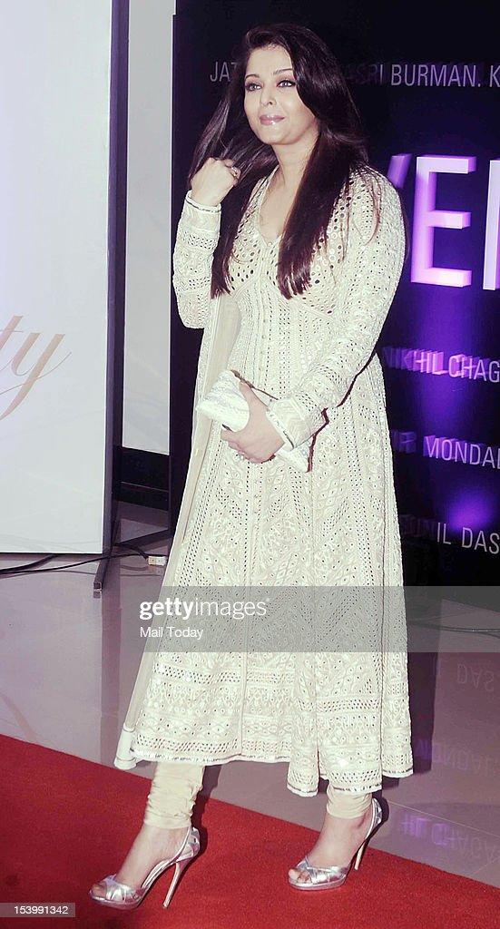 Actress Aishwarya Rai Bachchan at the inauguration of `B Seventy` an art show organised to celebrate Amitabh Bachchan`s 70th birthday in Mumbai on...