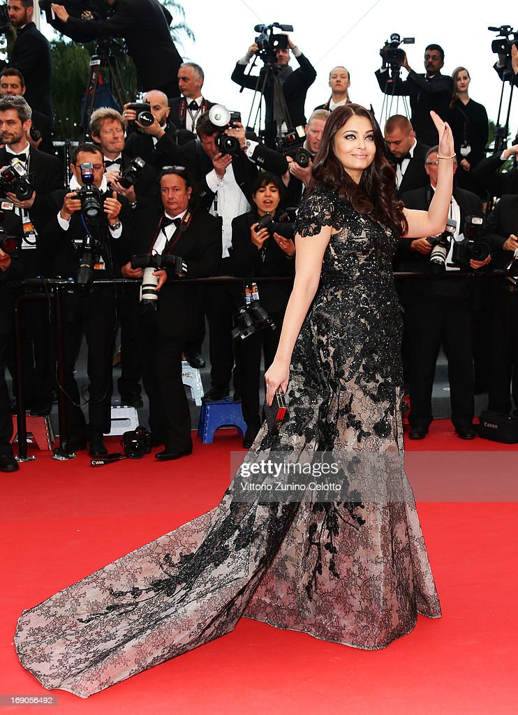 Actress Aishwarya Rai Bachchan attends `Inside Llewyn Davis` Premiere during the 66th Annual Cannes Film Festival at Palais des Festivals on May 19...
