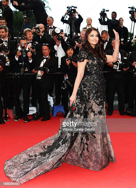 Actress Aishwarya Rai Bachchan attends 'Inside Llewyn Davis' Premiere during the 66th Annual Cannes Film Festival at Palais des Festivals on May 19...