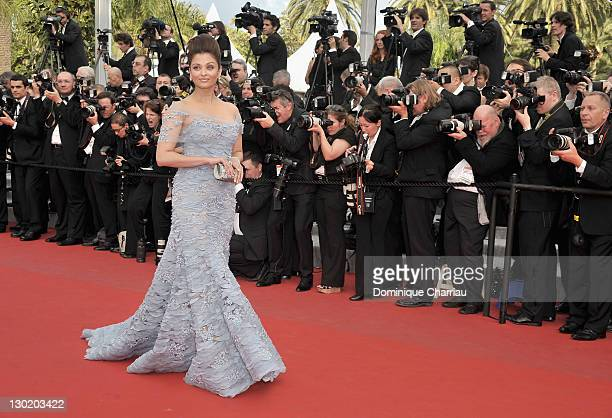 Actress Aishwarya Rai Bachchan attends the Opening Night Premiere of 'Robin Hood' at the Palais des Festivals during the 63rd Annual International...