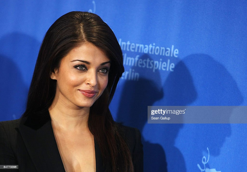 Actress Aishwarya Rai Bachchan attends the photocall for `Pink Panther 2` as part of the 59th Berlin Film Festival at the Grand Hyatt Hotel on...