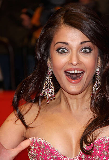 Actress Aishwarya Rai Bachchan attends the premiere for 'Pink Panther 2' as part of the 59th Berlin Film Festival at the Berlinale Palast on F
