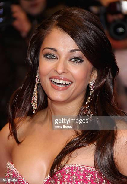 Actress Aishwarya Rai Bachchan attends the premiere for 'Pink Panther 2' as part of the 59th Berlin Film Festival at the Berlinale Palast on February...