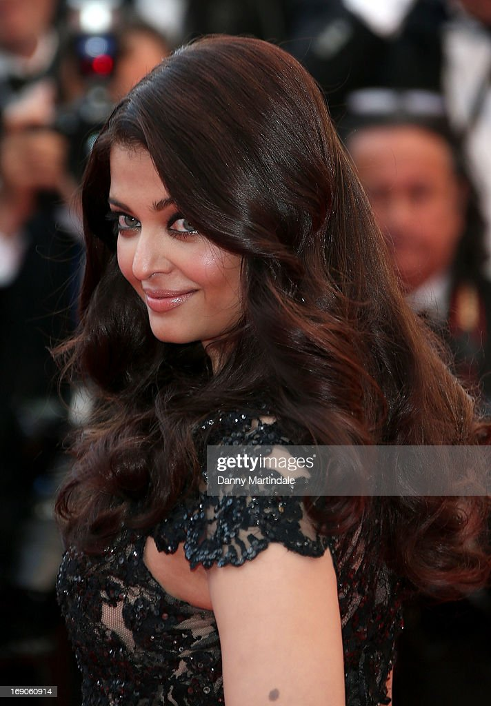 Actress Aishwarya Rai Bachchan attends the Premiere of 'Inside Llewyn Davis' at The 66th Annual Cannes Film Festival on May 19 2013 in Cannes