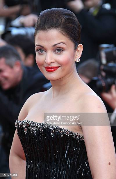 Actress Aishwarya Rai Bachchan attends the Premiere of 'On Tour' at the Palais des Festivals during the 63rd Annual International Cannes Film...