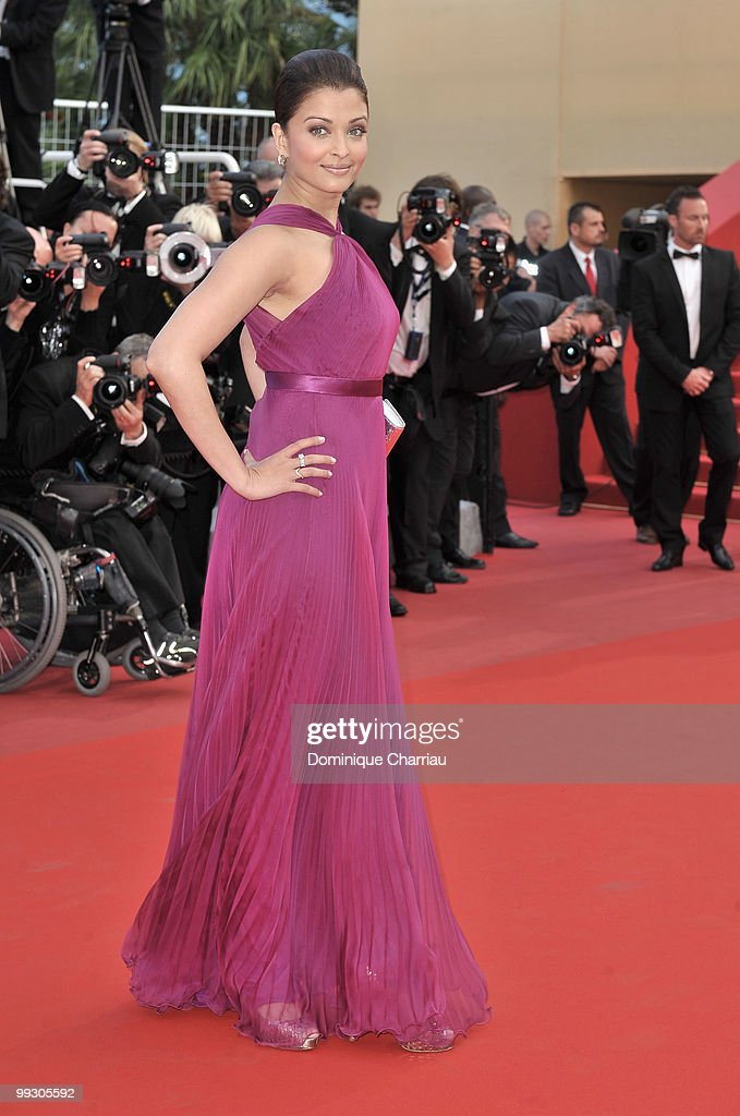 Actress Aishwarya Rai Bachchan attends the Premiere of 'Wall Street Money Never Sleeps' held at the Palais des Festivals during the 63rd Annua