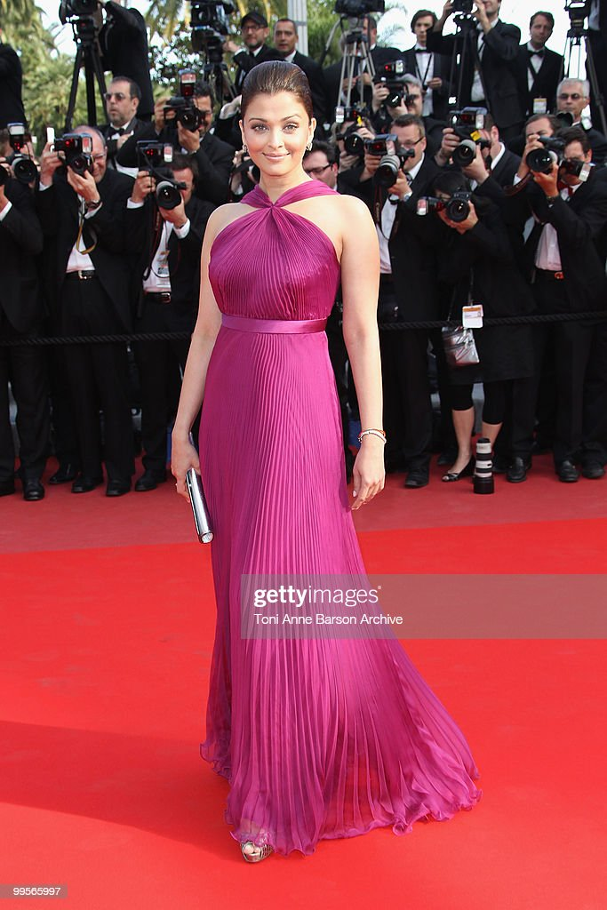 Actress Aishwarya Rai Bachchan attends the Premiere of `Wall Street Money Never Sleeps` held at the Palais des Festivals during the 63rd Annual...