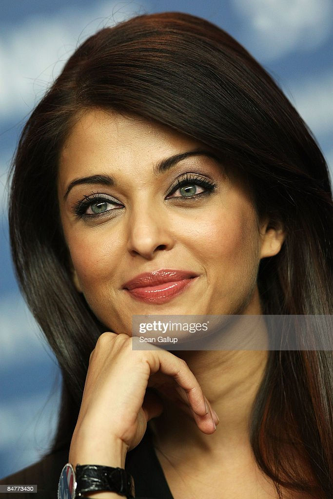 Actress Aishwarya Rai Bachchan attends the press conference for `Pink Panther 2` as part of the 59th Berlin Film Festival at the Grand Hyatt Hotel on.