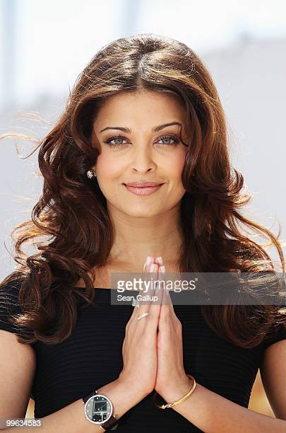 Actress Aishwarya Rai Bachchan attends the Raavan Photocall at the Salon Diane at The Majestic during the 63rd Annual Cannes Film Festival on May 17...