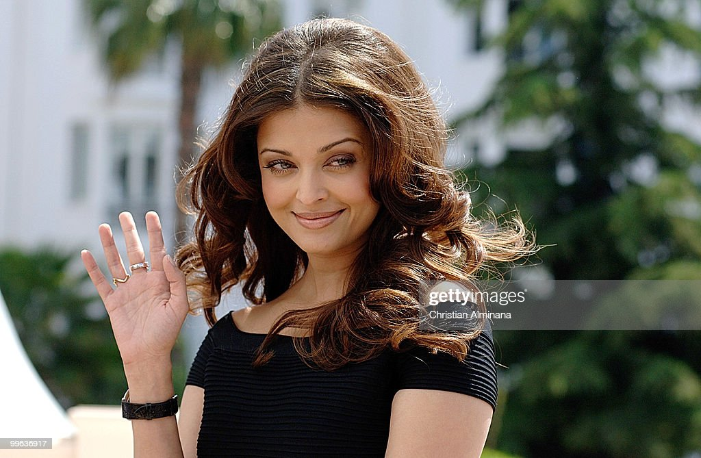 Actress Aishwarya Rai Bachchan attends the `Raavan` Photocall at the Martha Barriere Terrace at The Majestic during the 63rd Annual Cannes Film...