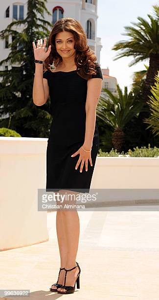 Actress Aishwarya Rai Bachchan attends the 'Raavan' Photocall at the Martha Barriere Terrace at The Majestic during the 63rd Annual Cannes Film...