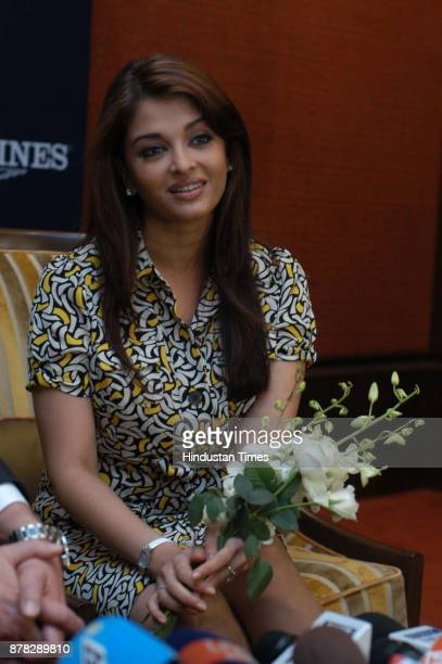 Actress Aishwarya Rai Bachchan during the launch of bridal collection of Longines watches in New Delhi on Wednesday