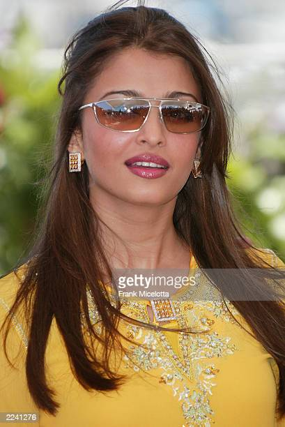 Actress Aishwarya Rai poses during a photocall for the film 'The Jury' at the Palais des Festivals during the 56th International Cannes Film Festival...