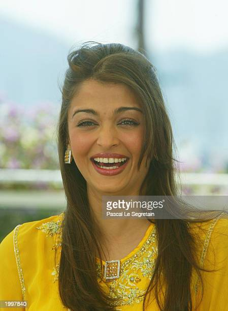 Actress Aishwarya Rai poses for the cameras during a photocall for the Jury at the Palais des Festivals during the 56th International Cannes Film...