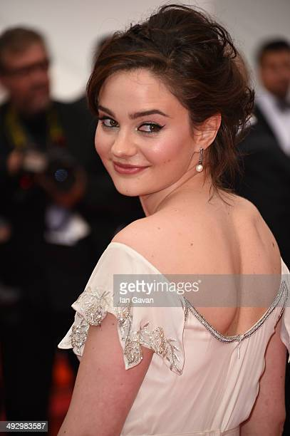 Actress Aisling Franciosi attend the Jimmy's Hall premiere during the 67th Annual Cannes Film Festival on May 22 2014 in Cannes France
