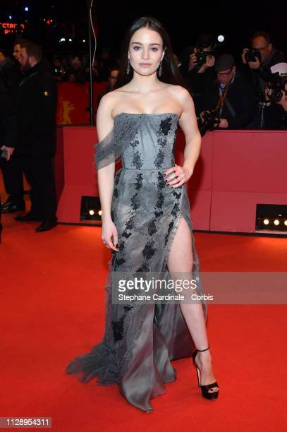 Actress Aisling Franciosi poses at the Vice premiere during the 69th Berlinale International Film Festival Berlin at Berlinale Palace on February 11...