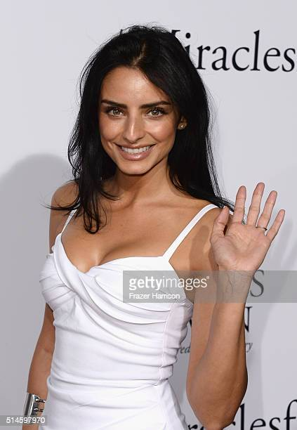 Actress Aislinn Derbez arrives at the Premiere of Columbia Pictures' 'Miracles From Heaven' at ArcLight Hollywood on March 9 2016 in Hollywood...