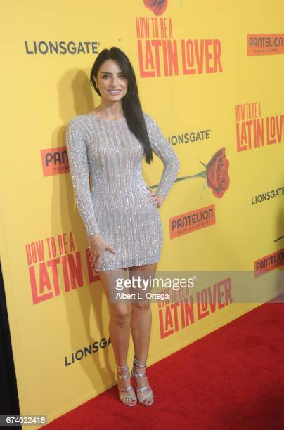 Actress Aislinn Derbez arrives for the Premiere Of Pantelion Films' 'How To Be A Latin Lover' held at ArcLight Cinemas Cinerama Dome on April 26 2017...