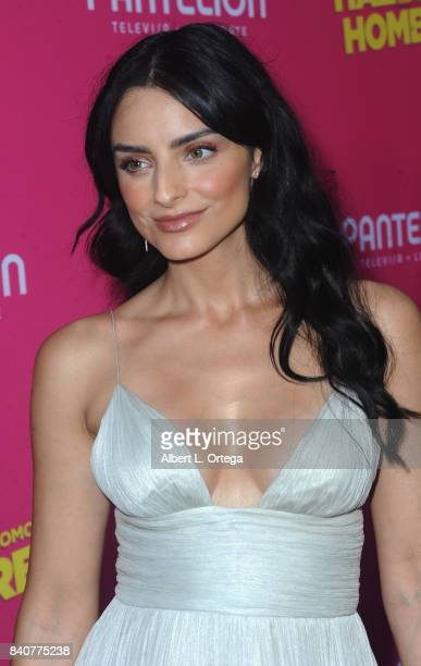 Actress Aislinn Derbez arrives for the Premiere Of Pantelion Films' 'Hazlo Como Hombre' held at ArcLight Cinemas on August 29 2017 in Hollywood...