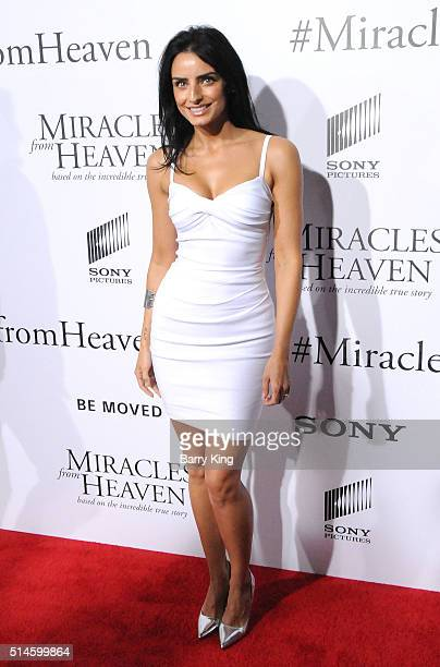 Actress Aislinn Derbez attends Premiere of Columbia Pictures' 'Miracles From Heaven' at ArcLight Hollywood on March 9 2016 in Hollywood California