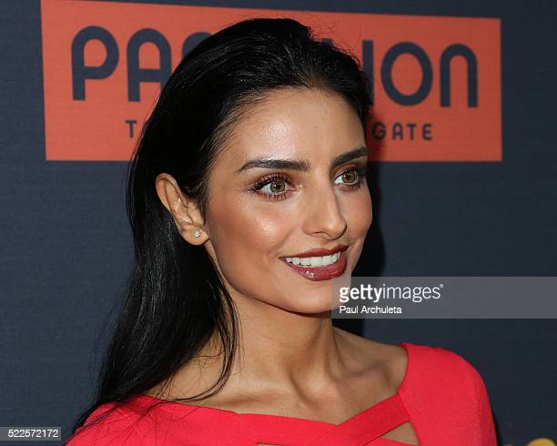 Actress Aislinn Derbez attends the premiere of 'Compadres' at ArcLight Hollywood on April 19 2016 in Hollywood California