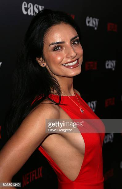 Actress Aislinn Derbez attends the premiere of Netflix's 'Easy' at The London Hotel on September 14 2016 in West Hollywood California