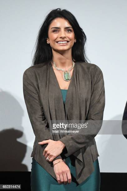 Actress Aislinn Derbez speaks onstage during the 'Win It All' premiere 2017 SXSW Conference and Festivals on March 11 2017 in Austin Texas