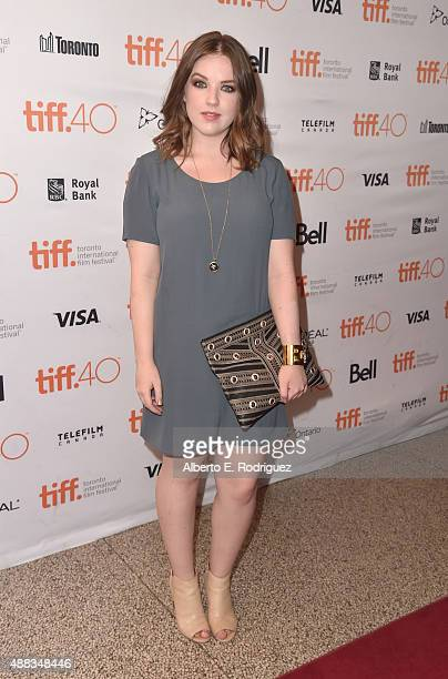 Actress Aislinn Paul attends the 'Heroes Reborn' premiere during the 2015 Toronto International Film Festival at the Winter Garden Theatre on...