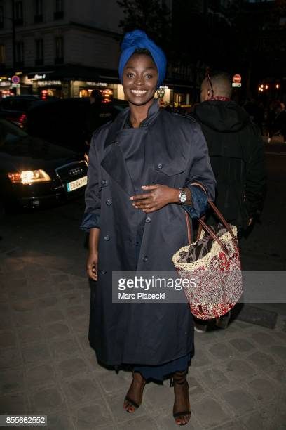 Actress Aissa Maiga attends Her Time Omega Outside Arrivals as part of the Paris Fashion Week Womenswear Spring/Summer 2018 on September 29 2017 in...