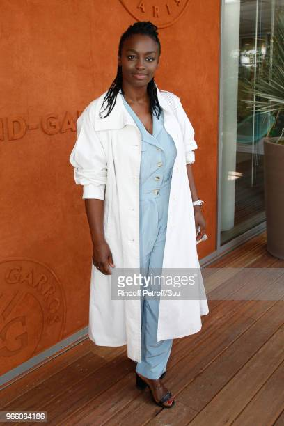 Actress Aissa Maiga attends the 2018 French Open Day Seven at Roland Garros on June 2 2018 in Paris France