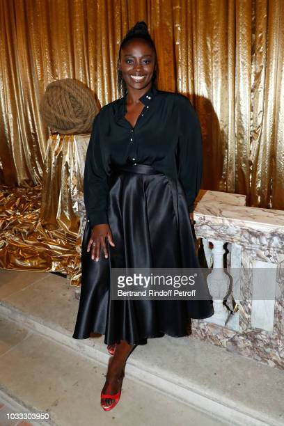 Actress Aissa Maiga attends the Kering Heritage Days Opening Night at 40 Rue de Sevres on September 14 2018 in Paris France