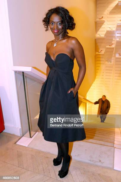 Actress Aissa Maiga attends the 'Le Paris du Tout Paris' Book written by Alexandra Senes Presentation at Maison Roger Vivier on February 4 2014 in...