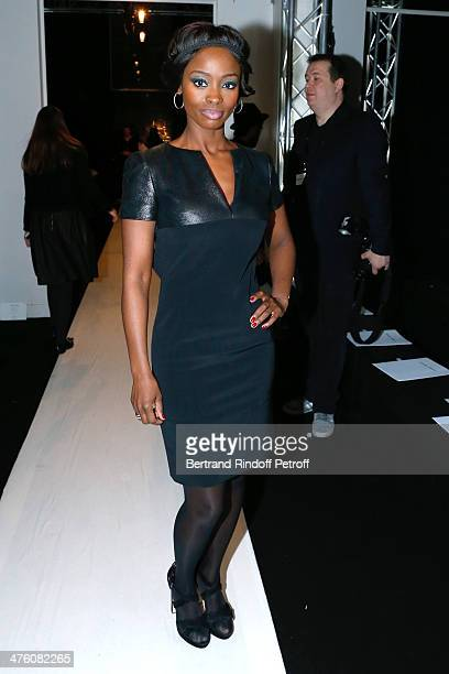 Actress Aissa Maiga attends the Maxime Simoens show as part of the Paris Fashion Week Womenswear Fall/Winter 20142015 Held at Lycee Jean Zay on March...