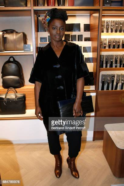 Actress Aissa Maiga attends the Montblanc ChampsElysees Flagship Reopening on May 18 2017 in Paris France