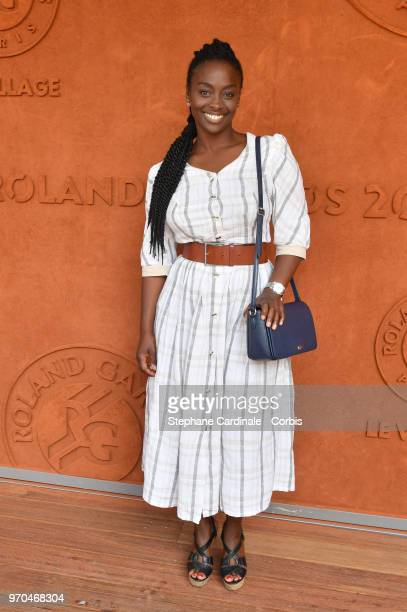 Actress Aissa Maiga attends the Women Final of the 2018 French Open Day Fourteen at Roland Garros on June 9 2018 in Paris France