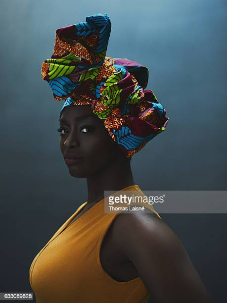 Actress Aissa Maiga is photographed for Self Assignment on December 19 2016 in Paris France