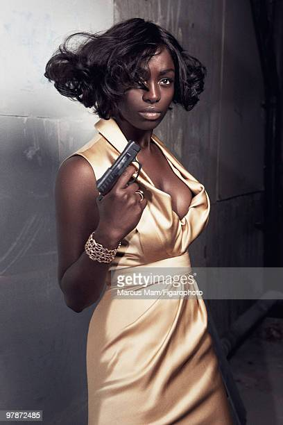 Actress Aissa Maigra poses at a James Bondinspired fashion session for Madame Figaro Magazine in 2008 PUBLISHED IMAGE CREDIT MUST READ Marcus...
