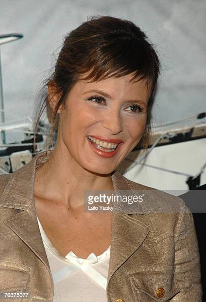 Actress Aitana Sanchez Gijn attends a photocall for La Carta Esfrica at the Casa de Panaderia on August 29 2007 in Madrid Spain