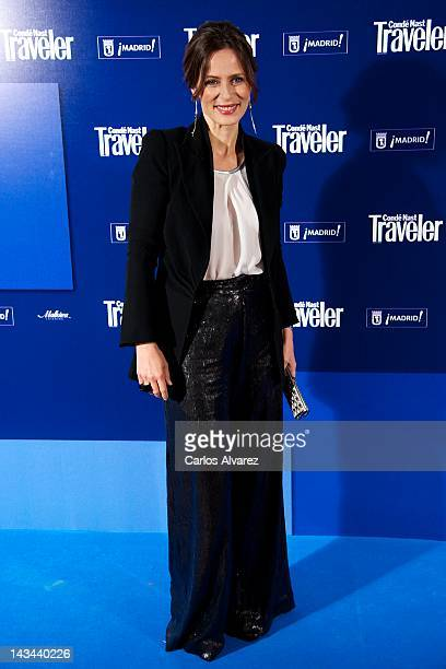 Actress Aitana Sanchez Gijon attends Conde Nast Traveler 2012 awards at Jardines de Cecilio Rodriguez on April 26 2012 in Madrid Spain