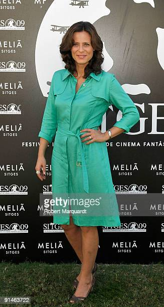 Actress Aitana SanchezGijon attends the photocall and press conference for the 'The Frost' at the 42nd Sitges Film Festival on October 5 2009 in...