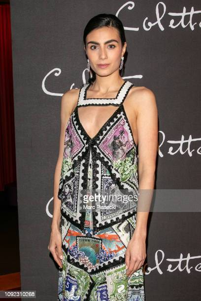 Actress Aiysha Hart attends the 'Colette' Premiere at Cinema Gaumont Marignan on January 10 2019 in Paris France