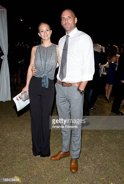 Actress A.J. Cook and her husband Nathan Andersen arrive at the ACT Today!'s 7th Annual Denim & Diamonds For Autism Benefit on November 3, 2012 in...